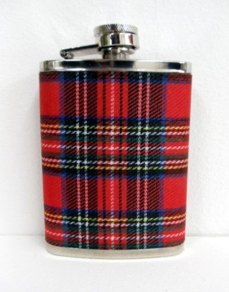 Royal Stewart Tartan Hip Flask 4oz