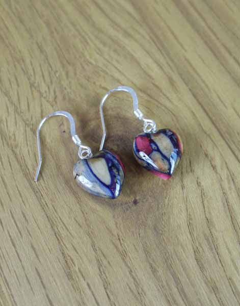 Heather Gems Heart Earrings