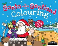 Santa is coming to Scotland Colouring