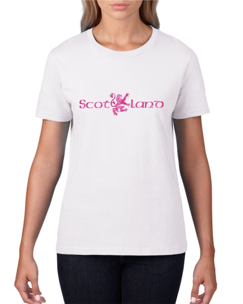 Scot LION Land Ladies T-Shirt (Crew neck)