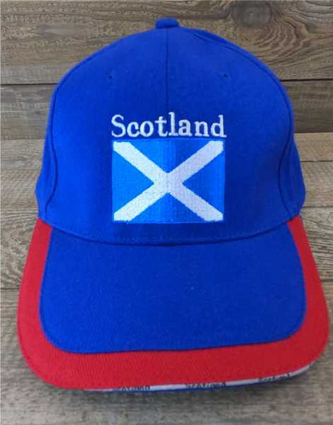 Scotland Baseball Cap -  Blue Red Trim