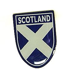 Scotland Saltire Shield Pin Badge