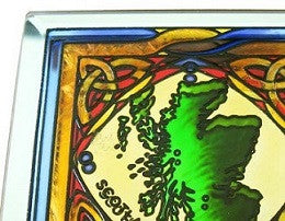 Stained Mirror Scotland Coaster