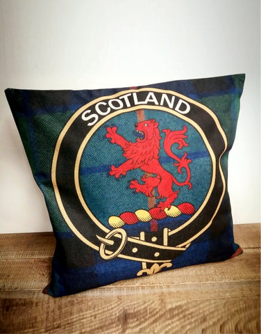 Tartan Scotland Crest Cushion Cover