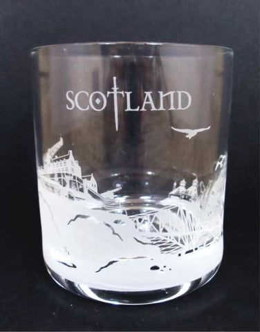Scotland Skyline Crystal Whisky Glass