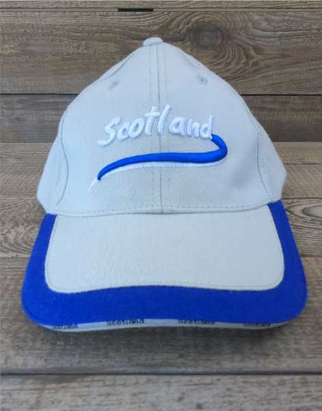 Scotland Baseball Cap - Cream Blue Trim
