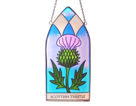 Scottish Thistle Stained Glass