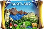 Scotland Scroll Magnet