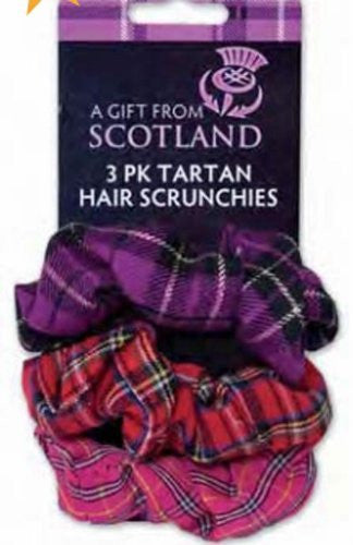3 Pack Tartan Hair Scrunchies