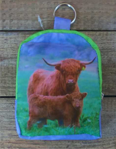 Highland Cow and Calf Fold Up Shopping Bag