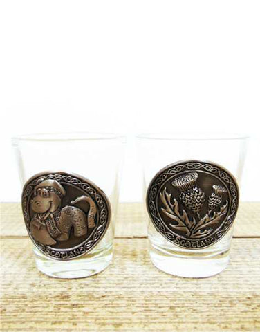 Scotland Thistle & Nessie Twin Shot Glasses