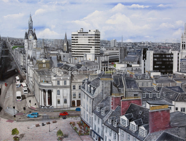 Skyline Aberdeen from Castlegate by Stan Fachie