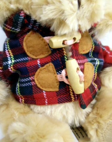 Hamish Bear with Tartan Duffle Coat - Small