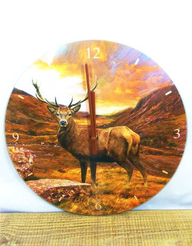 Scottish Stag Clock