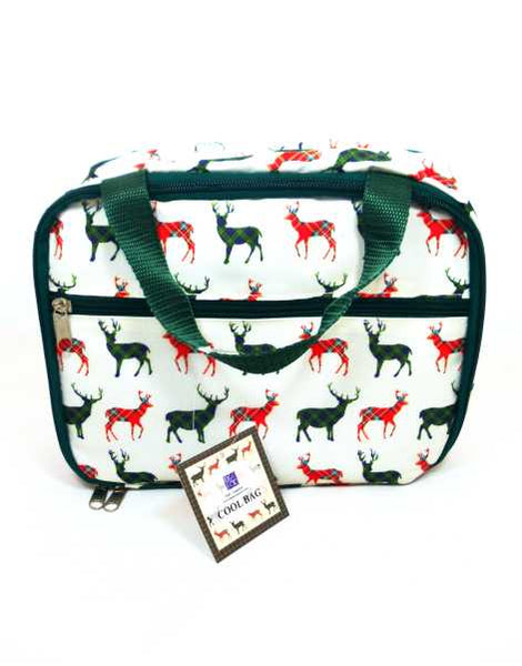 Scottish Tartan Stag Cool Bag