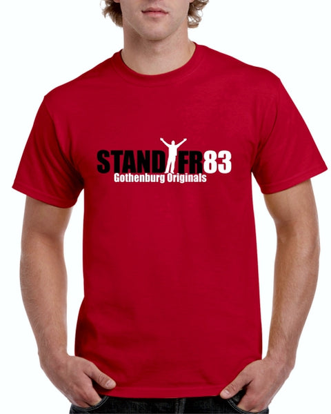 STAND FR83 Gothenburg Originals T-Shirt BLACK'WHITE Graphic
