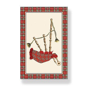 Scottish Bagpipes Tea Towel