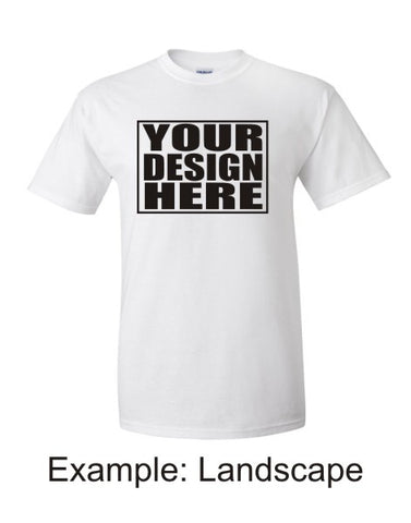 Personalised White T-Shirt (Single A4 Print)