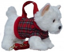 West Highland Terrier in Stewart Tartan Handbag/Shoulder Bag