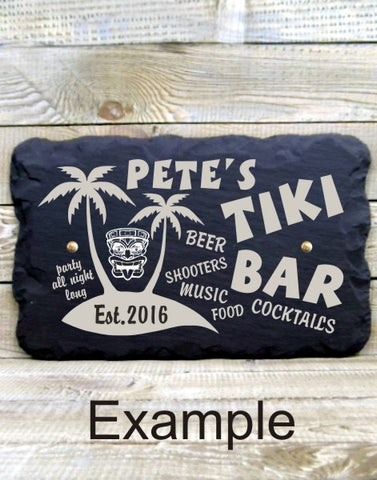 Personalised Bar Sign (Tiki Bar)
