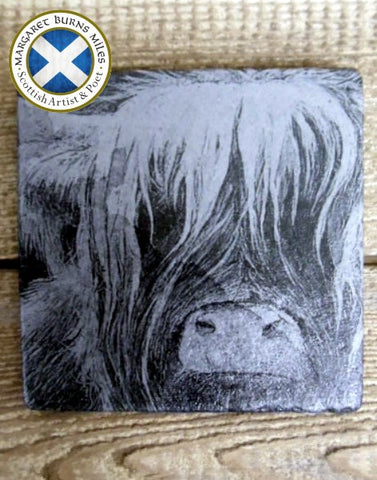 Photo Coaster - Wee Heilan Coo (C6)