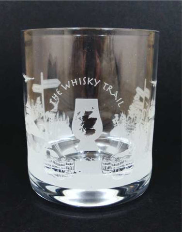 The Whisky Trail Crystal Whisky Glass
