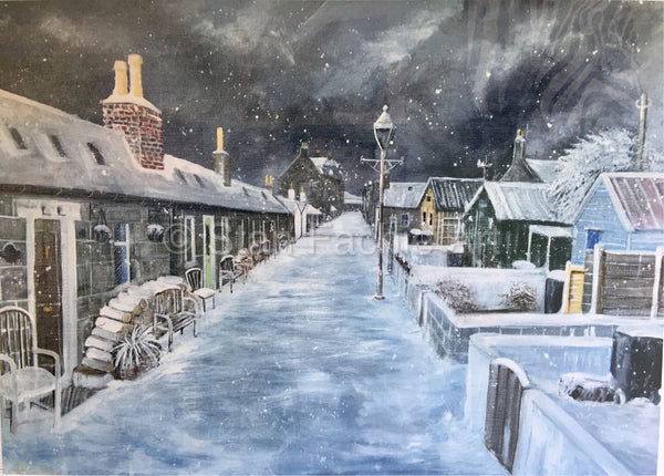 Winter at Fittie Aberdeen by Stan Fachie