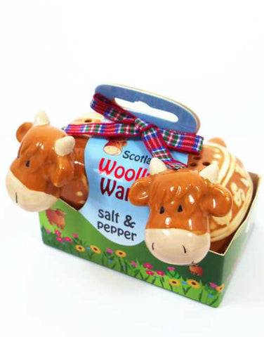 Highland Cow Wolly Ware Salt and Pepper Set