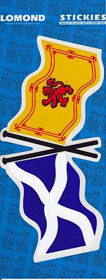 Saltire & Rampont Lion Flag Sticker