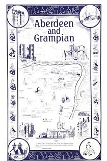 Aberdeen and Grampian Tea Towel