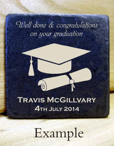 Personalised  Message Coaster GRADUATION