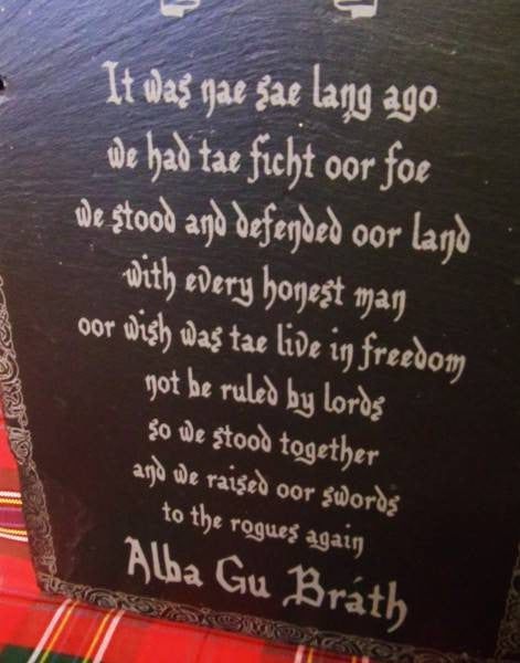 Scottish Poem Slate Scotland S Bothy