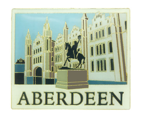 Aberdeen Marshall College & Robert the Bruce Statue Magnet