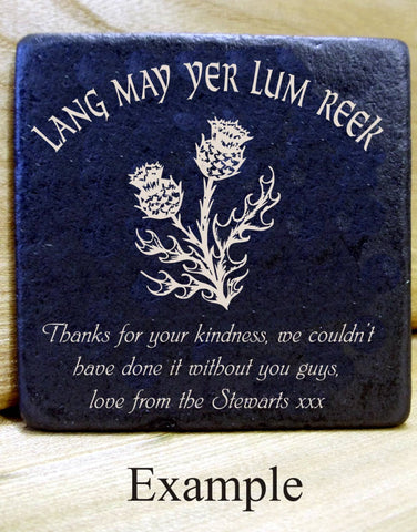 Personalised  Message Coaster LANG MAY YER LUM REEK