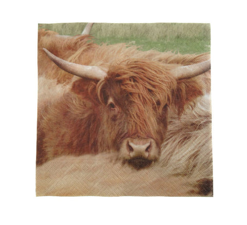 Scottish Highland Cow Napkins