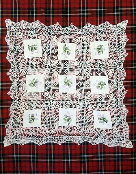 Crochet Tablecloth - Scottish Thistles