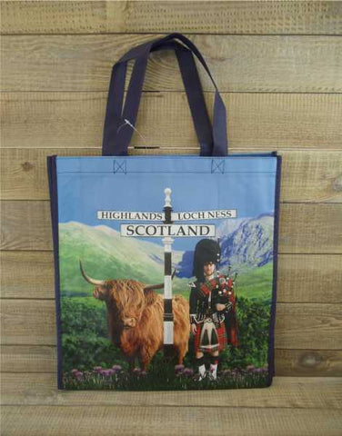 Highland Coo and Piper Reusable Shopping Bag