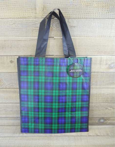 Black Watch Tartan Scottish Reusable Shopping Bag