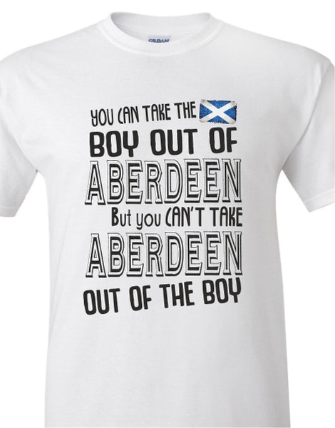 You Can Take The Boy Out Of Aberdeen Adult T-Shirt