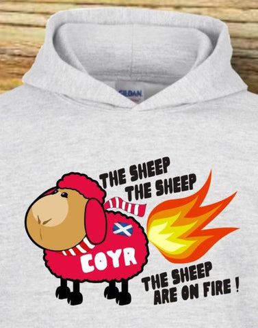 "Kids Hoody - ""The Sheep Are On Fire"""