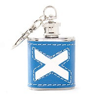 Saltire Mini Hip Flask & Key Chain (1oz)