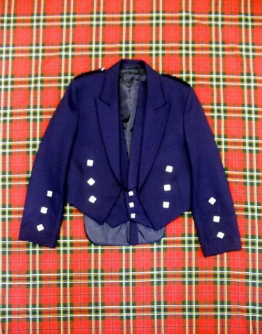 Gents Blue Prince Charlie Jacket & Waistcoat (Ex-Hire)