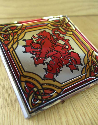 Rampant Lion Mirrored Fridge Magnet