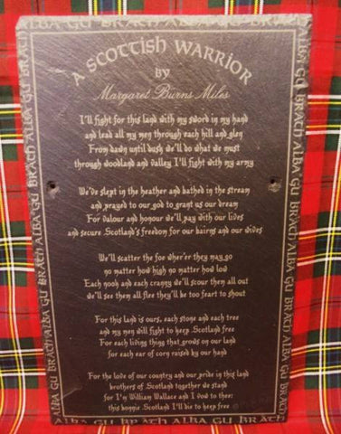 Scottish Poem Slate by Margaret Burns Miles