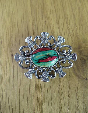 Heathergems Scottish Thistle Brooch