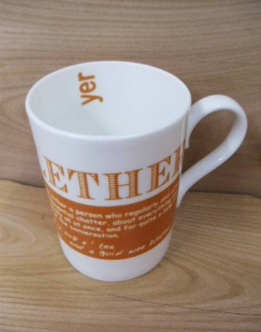 China Mug - Scottish Dialect Word (Blether)