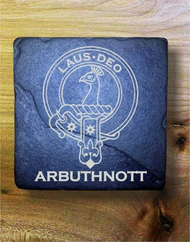 ARBUTHNOTT - Scottish Clan Crest Stone Coaster