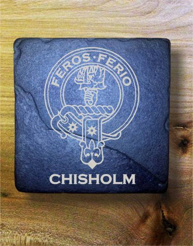 CHISHOLM - Scottish Clan Crest Stone Coaster