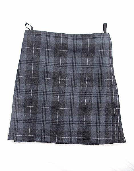 Pure Wool Kilt - Grey Granite Tartan - Made in Scotland (Ex-Hire)