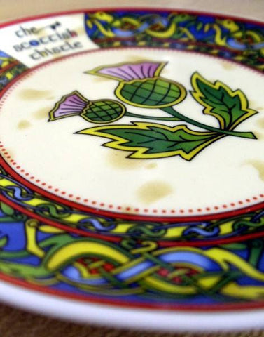 Scottish Thistle Bone China Decorative Plate